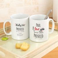 Personalised I Love You More Than... Mug - ideal gift for girlfriend, boyfriend, husband, wife, Valentine's Day, Birthday